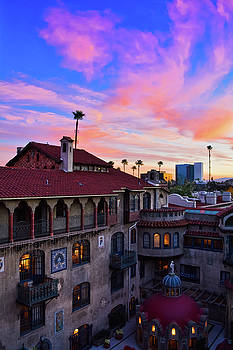 Mission Inn Hotel Sunset Portrait by Kyle Hanson