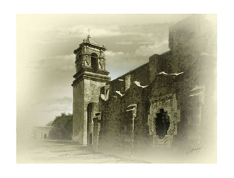 Mission San Jose Bell Tower by Cliff Hawley