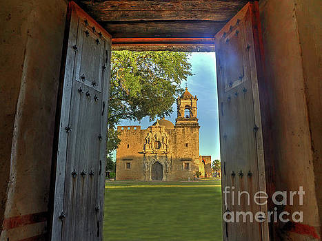 Mission San Jose from the Granary by Michael Tidwell