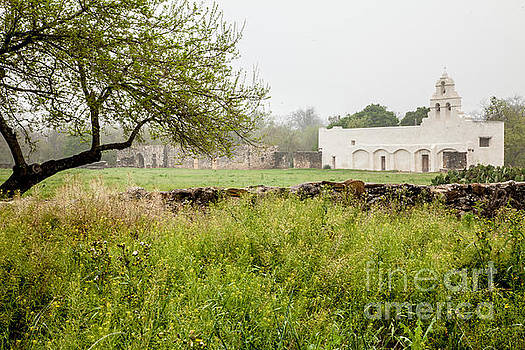 Mission San Juan Misty Morning by Iris Greenwell