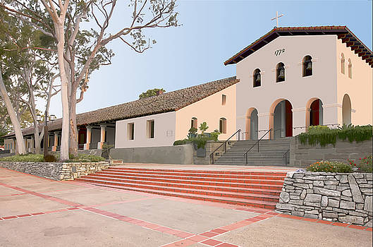 Mission San Luis Obispo by David Simmer