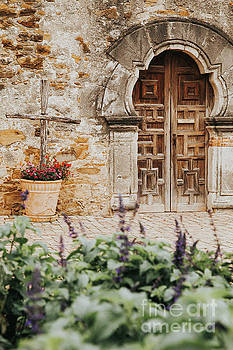 Mission Wooden Door by Iris Greenwell