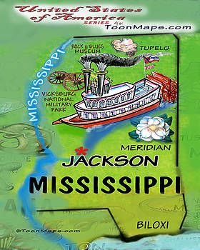 Kevin Middleton - Mississippi Fun Map