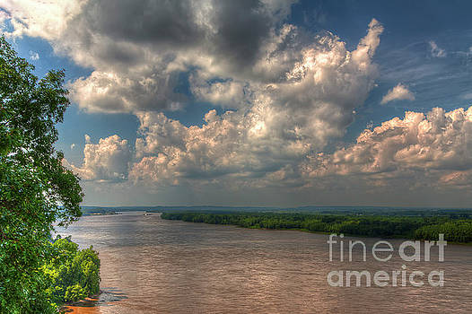 Larry Braun - Mississippi River Overview with Clouds
