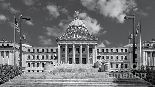 Mississippi State Capitol bw by Jerry Fornarotto