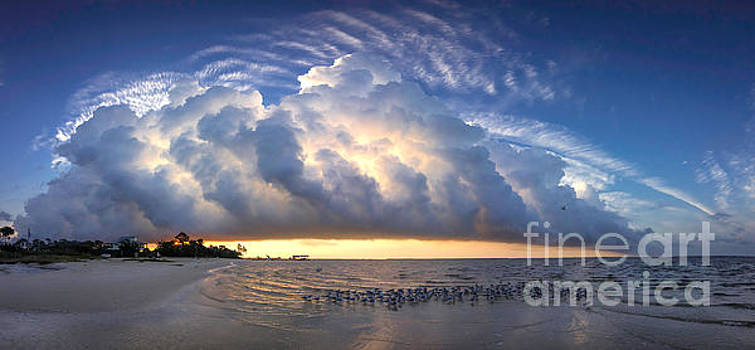 Mississippi Sunrise Pano by Joan McCool
