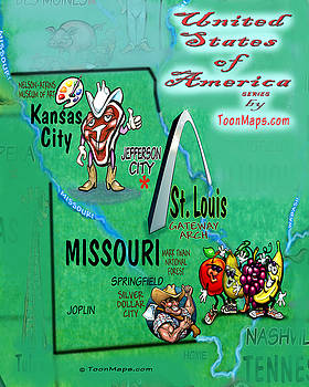 Kevin Middleton - Missouri Fun Map