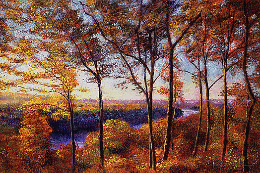 Missouri River In Fall by David Lloyd Glover