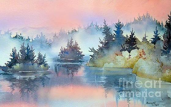 Mist at Sunrise by Teresa Ascone