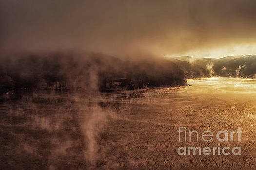Mists of Morning Summersville Lake by Thomas R Fletcher