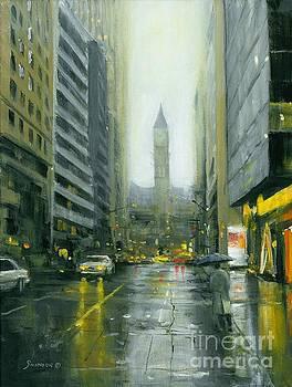 Misty Bay Street by Michael Swanson