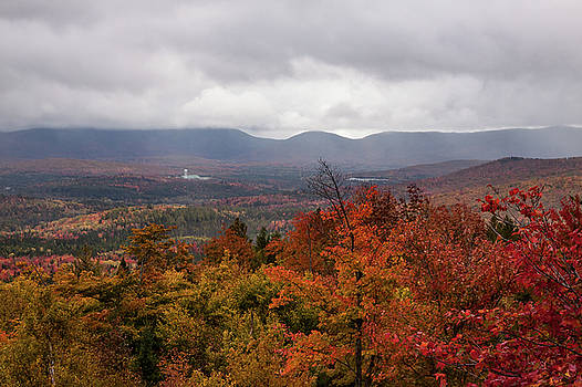 Misty Fall Colors of Milan NH by Jeff Folger