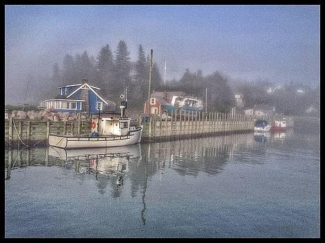 David Matthews - Misty harbour morning