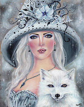 Misty Moonflower witch by Renee Lavoie