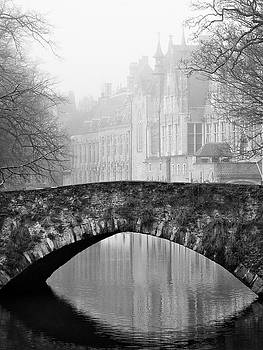Misty Morning Canal in Bruges by Barry O Carroll
