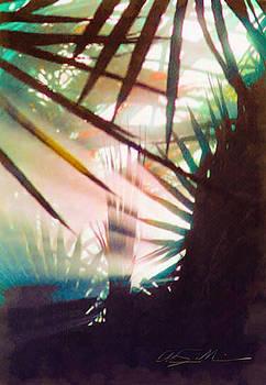 Misty Morning in the Garden by Chas Sinklier