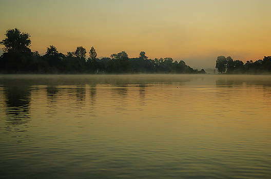 Misty Morning Lake by Paul Warburton