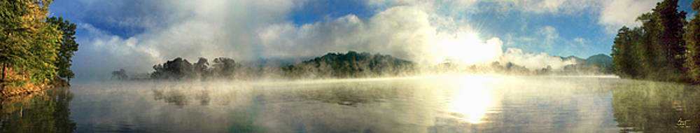 Sam Davis Johnson - Misty Morning Lake