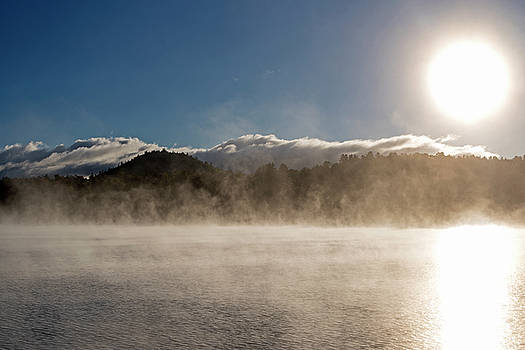Toby McGuire - Misty morning on Mirror Lake in Lake Placid Adirondacks Sunrise