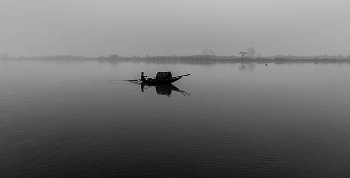 Misty Morning on The Lower Ganges by Chris Cousins