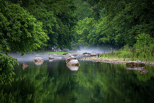 Misty Morning on the River by Allin Sorenson