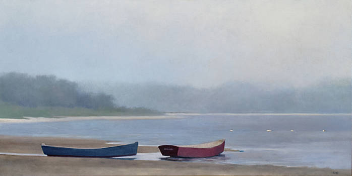 Misty Morning, West Yarmouth by Linda Puiatti