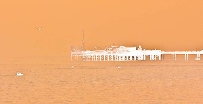 Misty Pier by Darren Kearney