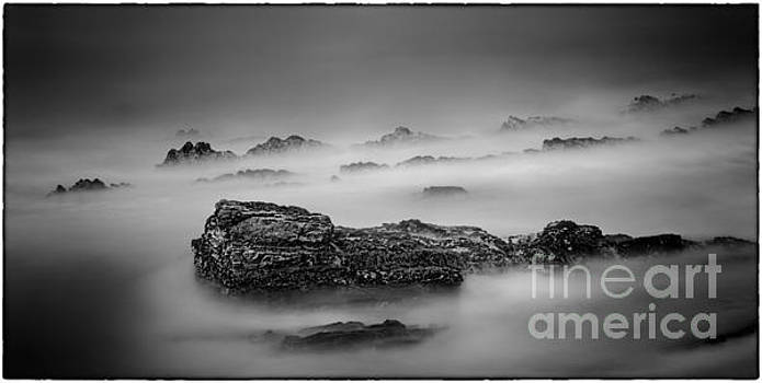Misty Rocks by James A Crawford
