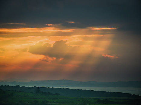 Misty sunrise over Shannon River by James Truett