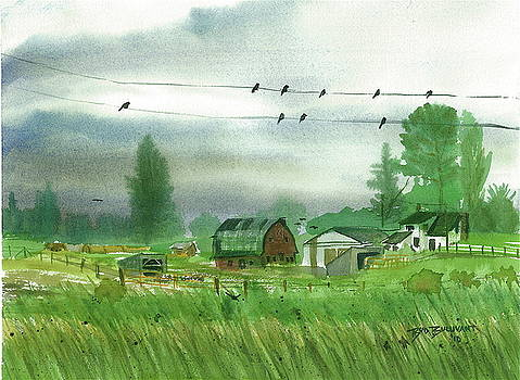 Misty Weather Farm by Bud Bullivant