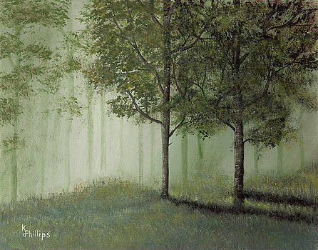 Misty Woods by Karen Phillips