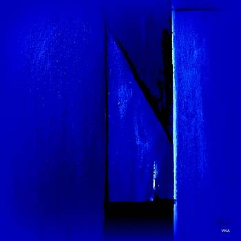 Mitre In Blue - Abstract by VIVA Anderson