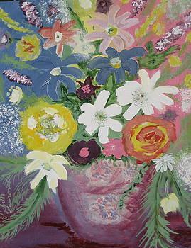 Mixed Flowers by Elizabeth A Gawronski