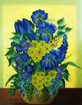 Mixed Flowers by Iris  Mora