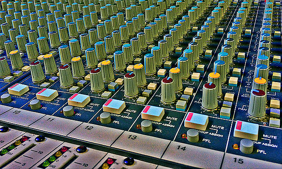 Mixing Sound Board Console by Joey OConnor