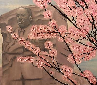 MLK and cherry blossom by Harry T Ellis