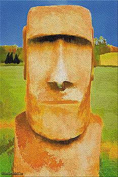 LeeAnn McLaneGoetz McLaneGoetzStudioLLCcom - Moai Head Texture