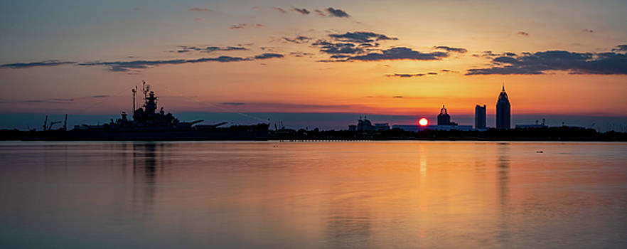 Mobile Bay Sunset by Brad Boland