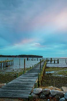 Mobjack Bay Dock by Jean Haynes