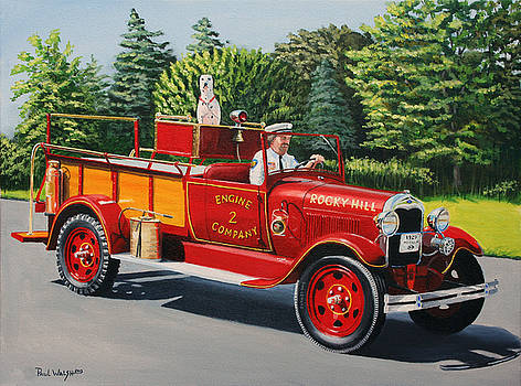 Model A FIRE ENGINE by Paul Walsh