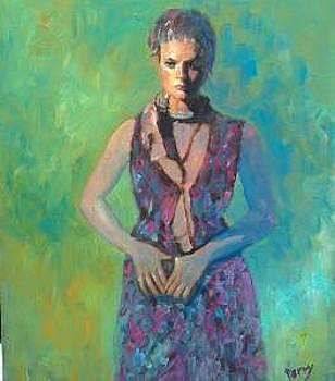 Model In Purple by Perry  Rubenstein