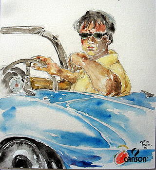 Model with Car by Mohd Raza-ul Karim
