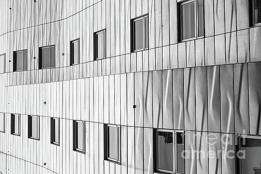 Modern Architecture NYC Black and White by Edward Fielding