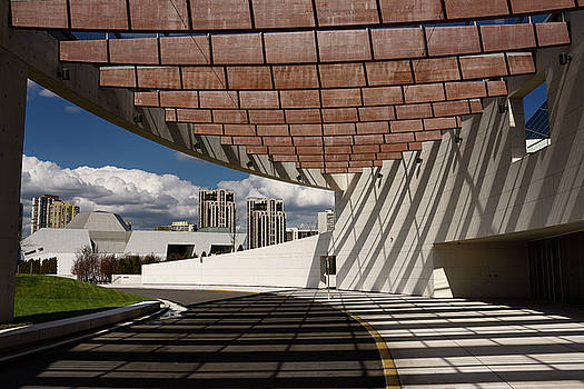 Reimar Gaertner - Modern architecture of Ismaili Centre entrance with Aga Khan Mus
