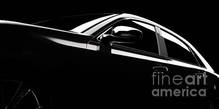 Michal Bednarek - Modern car silhouette in spotlight