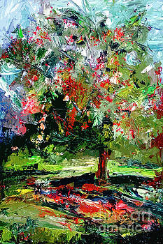 Modern Cherry Tree Contemporary Art  by Ginette Callaway