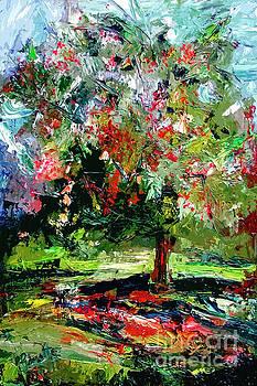 Ginette Callaway - Modern Cherry Tree Contemporary Art
