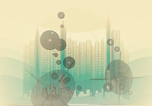 Modern City Abstract by Robert G Kernodle