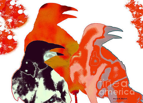 Modern Crow Art by Sharon K Shubert