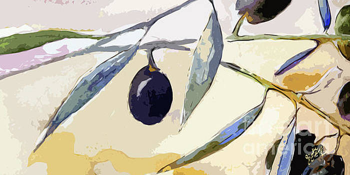 Ginette Callaway - Modern Decor Art Olive Branches Wide 1